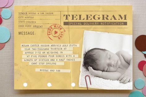 S telegramom ob rojstvu poskrbite, da ste med prvimi obdarovalci
